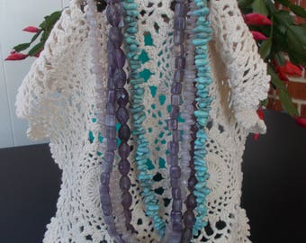 short four strand beaded necklace