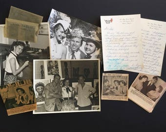 Debbie Reynolds in Cuba Original Collection of Photographs, Negatives, Signed Letter and Newspaper Articles