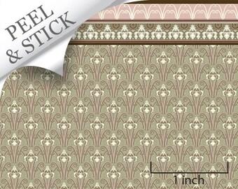 Quarter Scale Wallpaper-Peel and Stick-Mucha in Paris