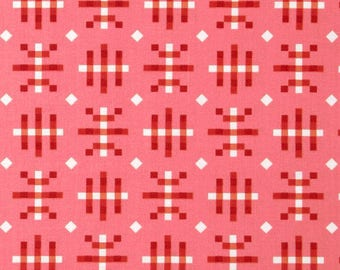 SALE Fabric, Anna Maria Horner, Honor Roll, Misguided Gingham in Strawberry, Free Spirit, Pink and Red Fabric, Summer