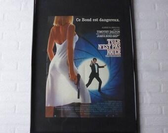 1987 James Bond  Tuer n'est pas jouer original movie poster