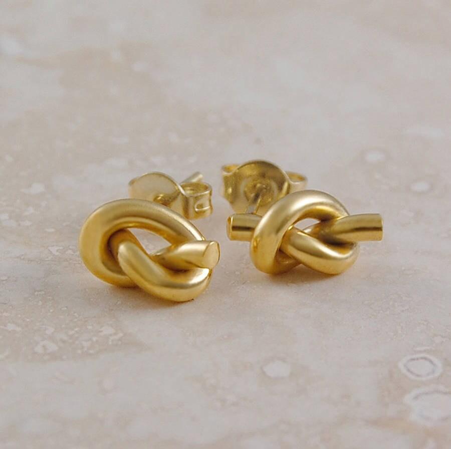 Gold Knoten Ohrstecker Gold Ohrringe nautischen Schmuck