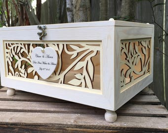 Wedding Card Box - Love Letter Box - Gift Card Box - Mr. & Mrs. Wedding Decor - Wishing Well Box - Wedding Money Box - Wedding Advise Box