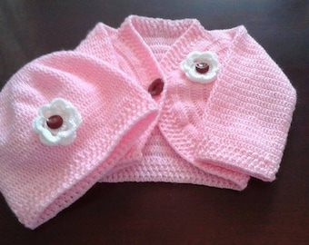 SET ROZZY set baby girl on set crochet baby article maternity clothes baby worked manual chachetita baby and beanie baby