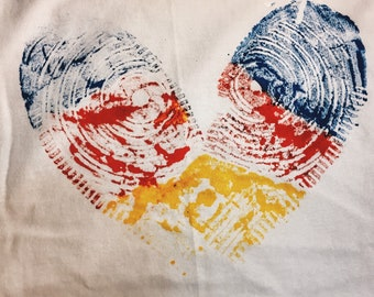 One Love Tee In Primary Colors By DapoDavinci