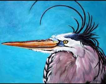 Wind Blown Heron