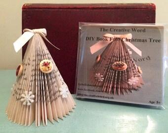 DIY Miniature Book Fold Christmas Tree
