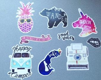 Hipster Sticker Vinyl Stickers Sticker Pack Cute Stickers Cool Stickers Laptop Stickers Funny Stickers Planner Stickers Adventure Stickers