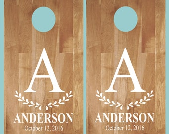 Cornhole Decals Etsy - Custom vinyl decals for wood