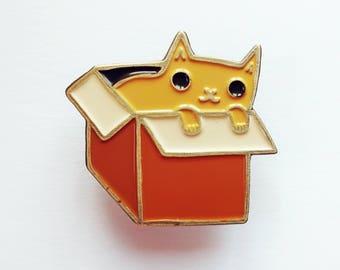 enamel CAT PIN enamel pin - cat lover gift - enamel badge, kawaii pin, cute cat enamel pin, enamel jewelry, gift for her, cat lady lapel pin