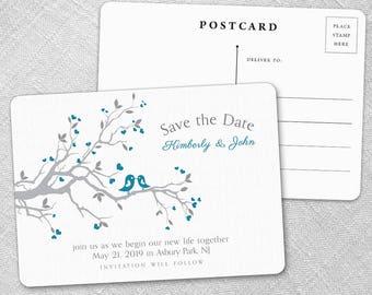 Love Birds - Postcard - Save-the-Date