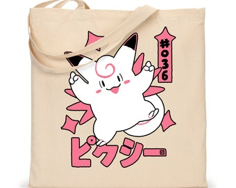 TOTE - Pixy Pokemon Tote Bag - Clefable