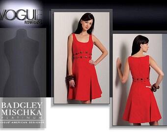 VOGUE 1089 sewing pattern.  Badgley Mischka Vogue American Designer.  Size 16-18-20-22.  New.  Uncut.  Factory folded.
