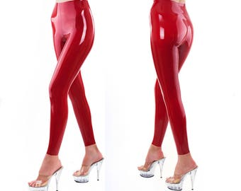 Real Latex Leggings - Red, Black, White, Pink, Blue etc - Any size