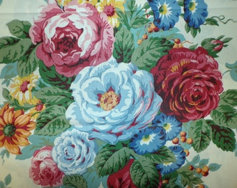 Floral Cotton Upholstery Fabric Screen Print Preshrunk CR #10