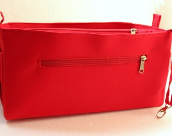 Purse organizer Fits Speedy 30- Bag organizer insert in Rich Red