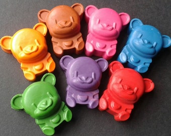 Teddy bear crayons - Animal crayons - Bear crayons - Toy box - Hand poured - Party favours - Party bags - Boy - Girl - Birthday - Gift