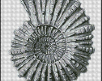 VINTAGE SEASHELL cross stitch pattern No.383