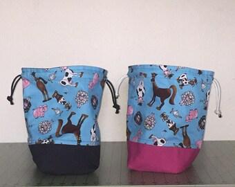 Handmade Knitting and Crocheting Project Bag