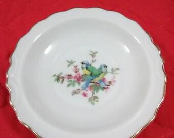 Vintage bird trinket dish