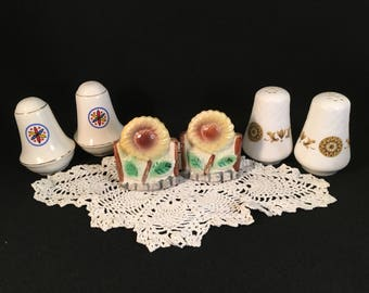 Salt and Pepper Shaker Vintage Lot of 3 Kitchen Decor Collectible