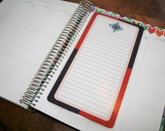 Dashboard (Size B), Coil Clip In, Laminated, Double Sided  / Erin Condren Life Planner, Limelife, Plum Paper (B05)
