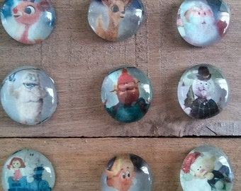 Rudolph The Red Nosed Reindeer Magnet Set - Christmas Magnets - Christmas Decorating - Gift Giving