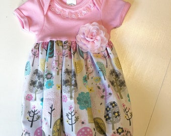 Newborn Flower/trees layette gown~layette gown~ coming home outfit!!~ ready to ship!!! Beautiful baby shower gift!