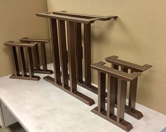 Design Dining Table Legs - Set of 2 Legs And Bench Legs - Set of 4 Legs