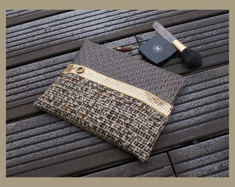 """flat clutch in faux leather """"naturally beautiful"""""""