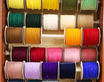 3/8 inch Nylvalour Swiss Velvet Ribbon - 40 Colors -  3/8 inch nylon Swiss velvet ribbon, 3/8 inch polyamide velvet