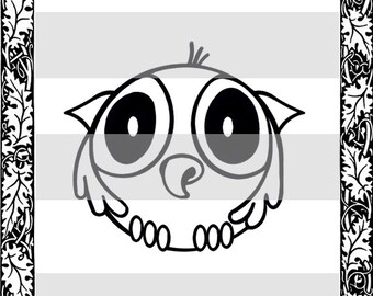 Cartoon Owl plus 10 special occassion sayings - Digital Stamp