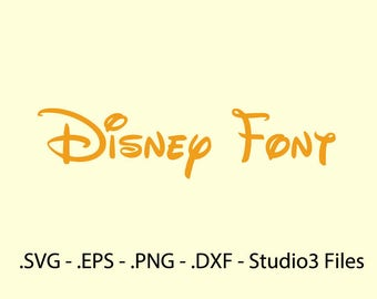 Disney font Vector. Complete alphabet.