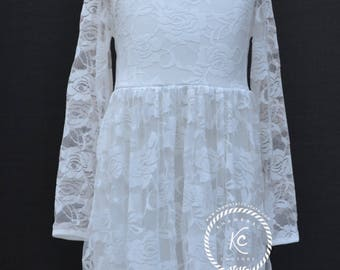 lace flower girl dress flower girl dress girls lace dress lace dress toddler lace dress boho flower girl dress flower girl dress lace