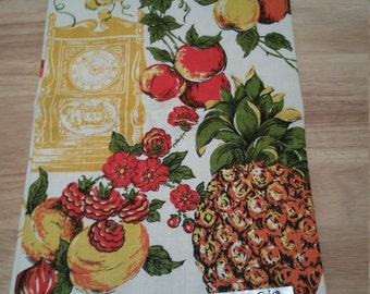 Parisian Prints Vintage Dish Towel - Flawless and Never Used! Pure Linen Printed