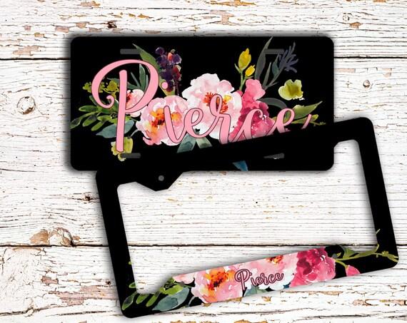 Girly auto accessories Personalized auto decor Pretty floral