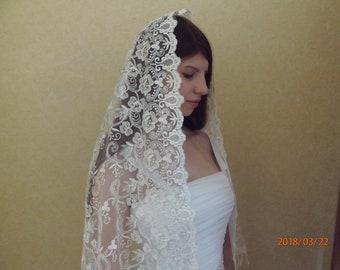 lace mantilla chapel, scarf church veil, catholic church veil, lace veil, tlm, orthodox llace scarf, lace mantilla, chapel, mothers day gift