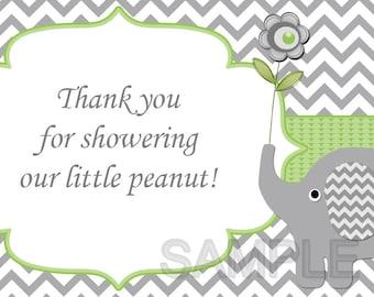 Thank You for Showering Our Little Peanut Insert for Elephant Baby Shower Invitations  (80B1TT)