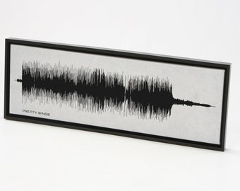 Pretty Wings - Sound Wave Art Print, Music Canvas