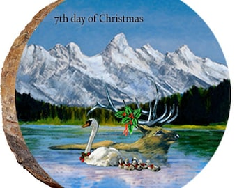 7th Day of Christmas Elk - DX219