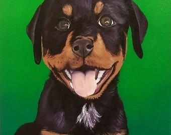 Custom Pet Portrait Painting - Free Shipping!