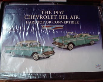 Vintage 1957 Chevrolet Bel Air Collector's Die Cast Model Assembly Kit by the Franklin Mint