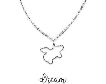 Flying Pig Necklace, Inspirational Women Gift, Animal Lover Gifts, Silver Pig Dainty Necklaces for Women, Inspirational Necklace for Girls
