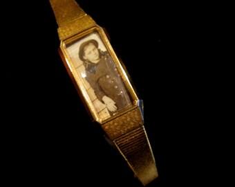 Gold Petite - Vintage Locket Bracelet