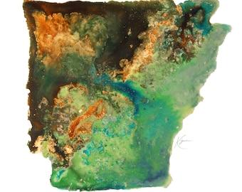 Arkansas Topography Print