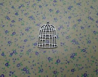 15 pcs of antique silver color metal cage pendant charm , 32*21mm , MP1127