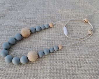 Silicone Teething Necklace - Gray