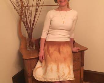 Skirt - Buttery soft nuno felted skirt