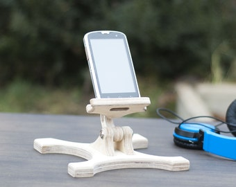 Mobile phone holder, Woodwork, Natural wood, Gift for men, Birthday gift, Gift for him, Wooden iPad stand, Boyfriend gift, wood phone stand