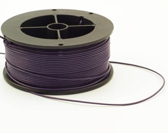 1.5mm Plum Purple Indian Leather Cord - By The Yard